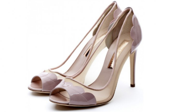 muted wedding shoes illusion touches