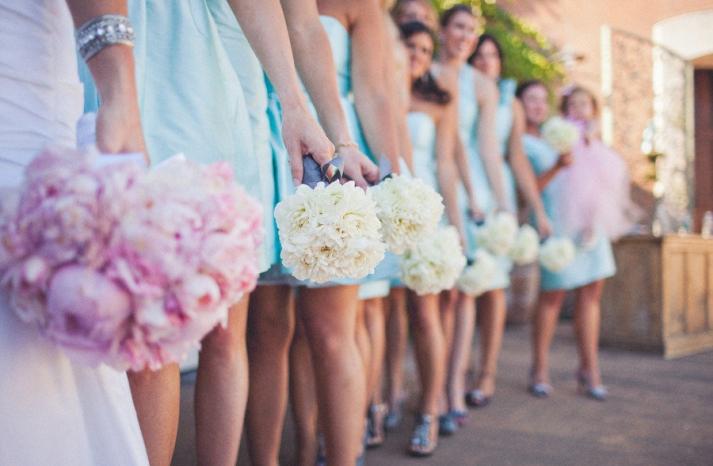 romantic winery wedding outdoor wedding venues bride bridesmaid bouquets