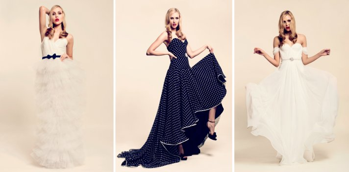inspired by polka dots wedding dresses 2012