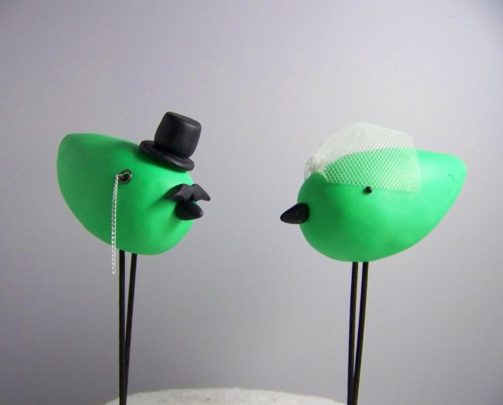 adorable wedding cake toppers handmade wedding Etsy 2