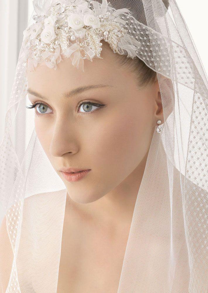 romantic bridal veils by rosa clara polka dot fabric embellished