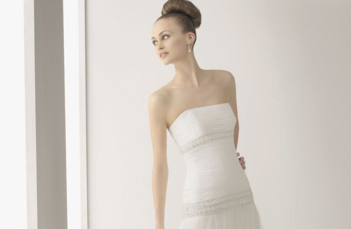 2012 wedding dress soft by rosa clara bridal gowns simple strapless pleated drop waist bodice