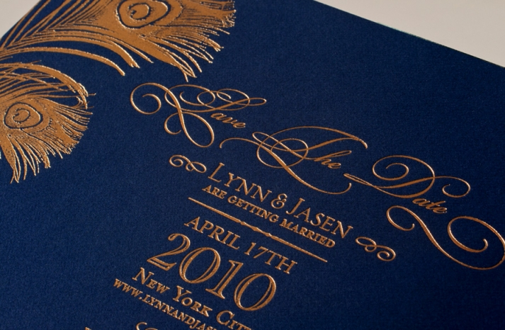 gold foil wedding invitations gold navy wedding colors