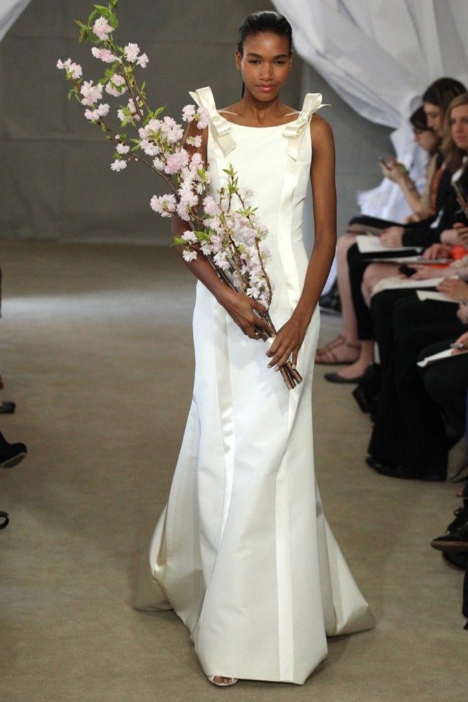 Spring 2013 bridal gowns Carolina Herrera wedding dress bow details
