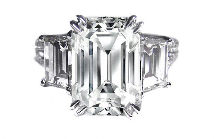 angelina jolie engagement ring emerald cut diamond engagement rings vintage 1