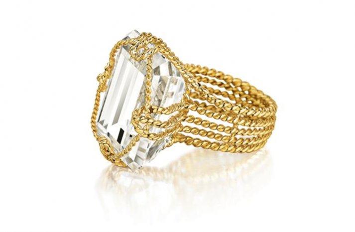 angelina jolie engagement ring emerald cut diamond engagement rings Verdura unique