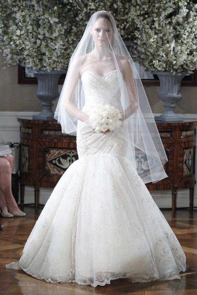 Spring 2013 wedding dress collections Romona Keveza bridal gown drop waist mermaid