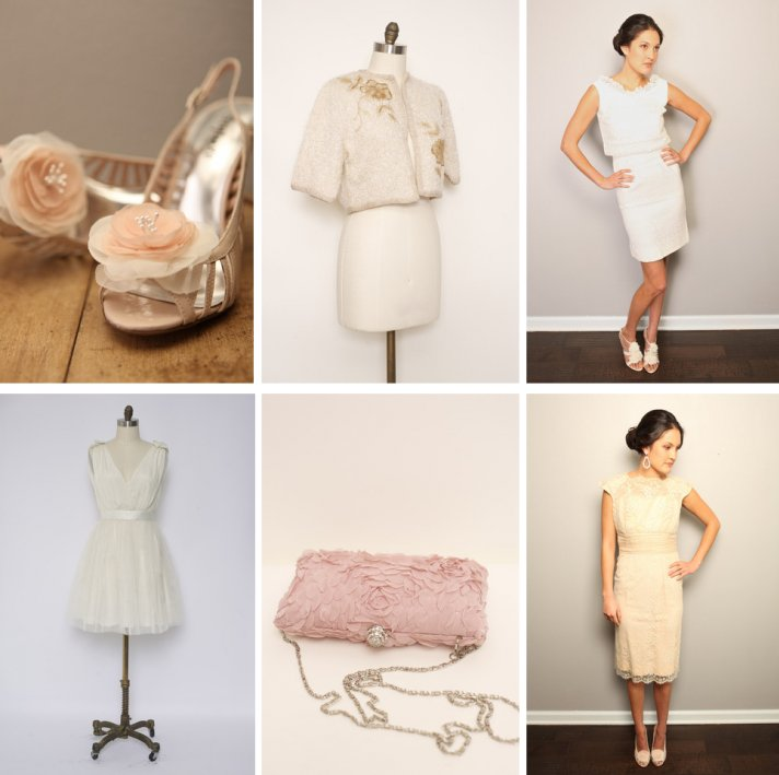 vintage wedding finds for romantic brides polka dot veil blush pink reception dress 2