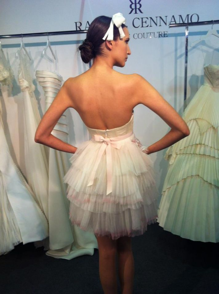 new bridal designer for 2013 little white wedding reception dress pink touches tulle