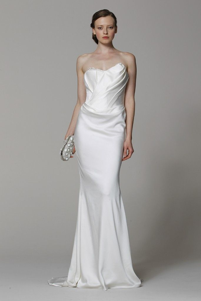 Marchesa wedding dress Spring 2013 bridal gowns silk column