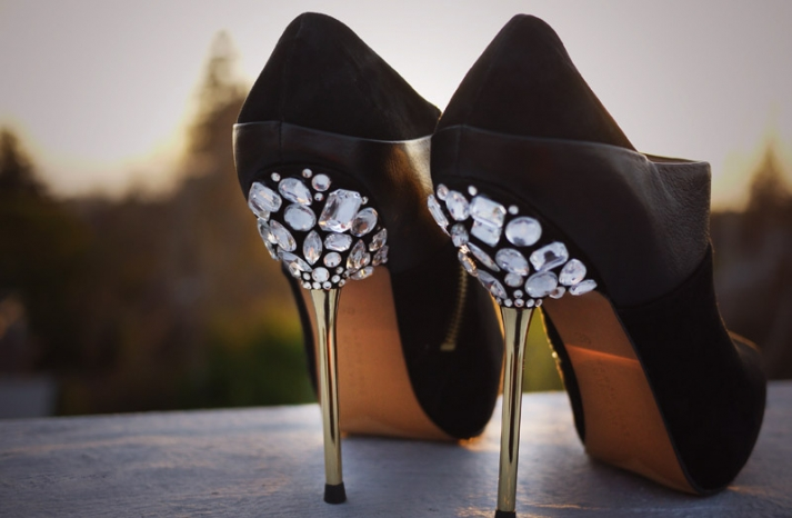 DIY wedding project Miu Miu bridal pumps crystal encrusted heels 5