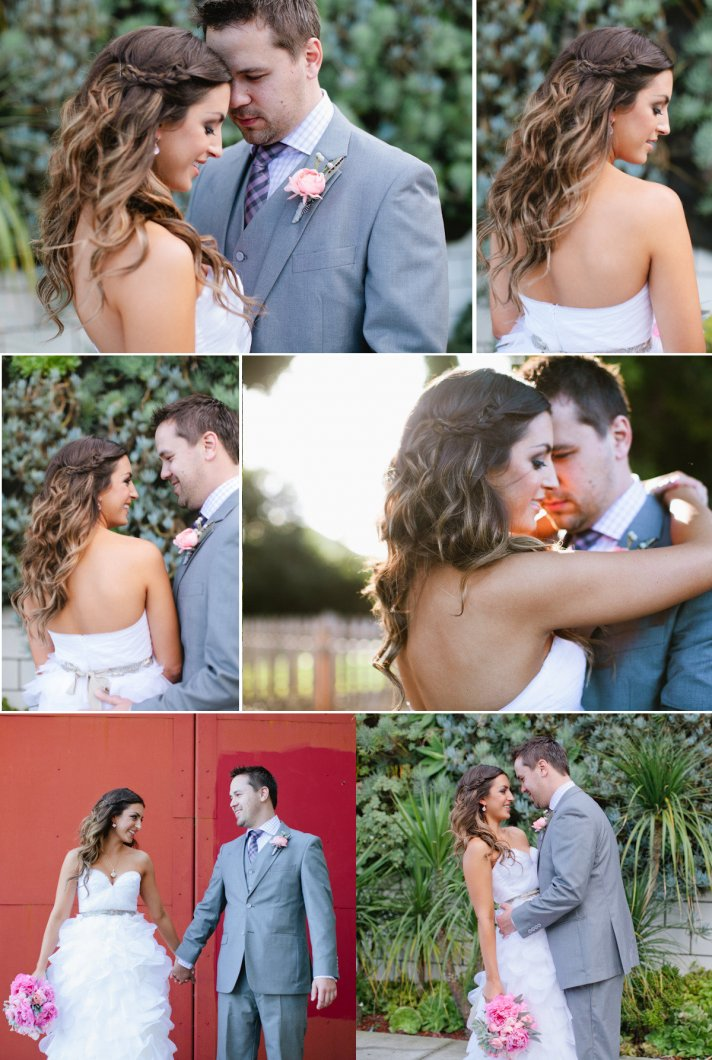 romantic long wedding hair bridal beauty ideas inspiration with braid