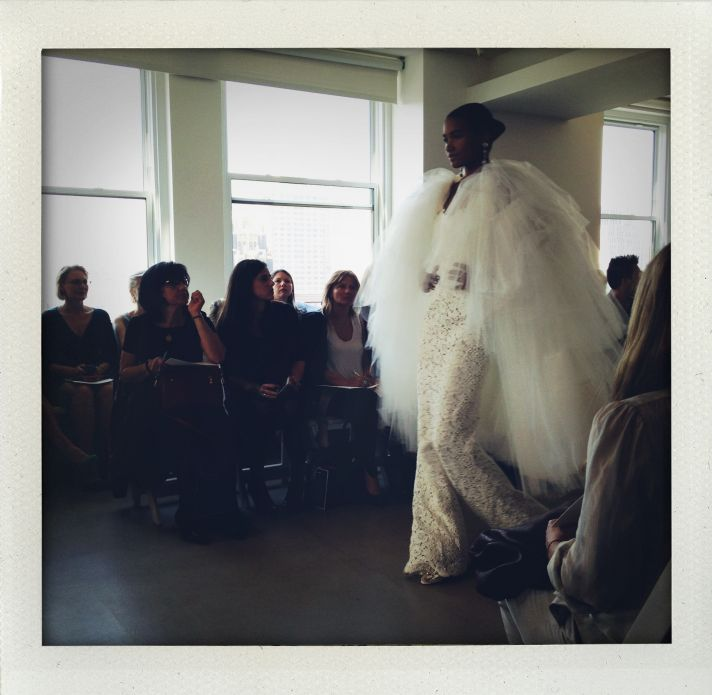 spring 2013 wedding dress bridal market runway 7