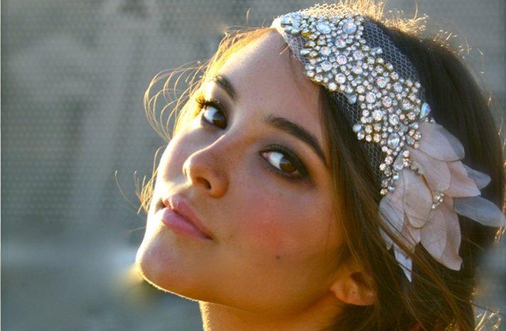 beaded bohemian bride wedding headband