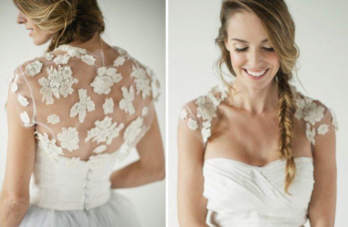 floral lace applique wedding bolero sheer illusion fabric wedding trends