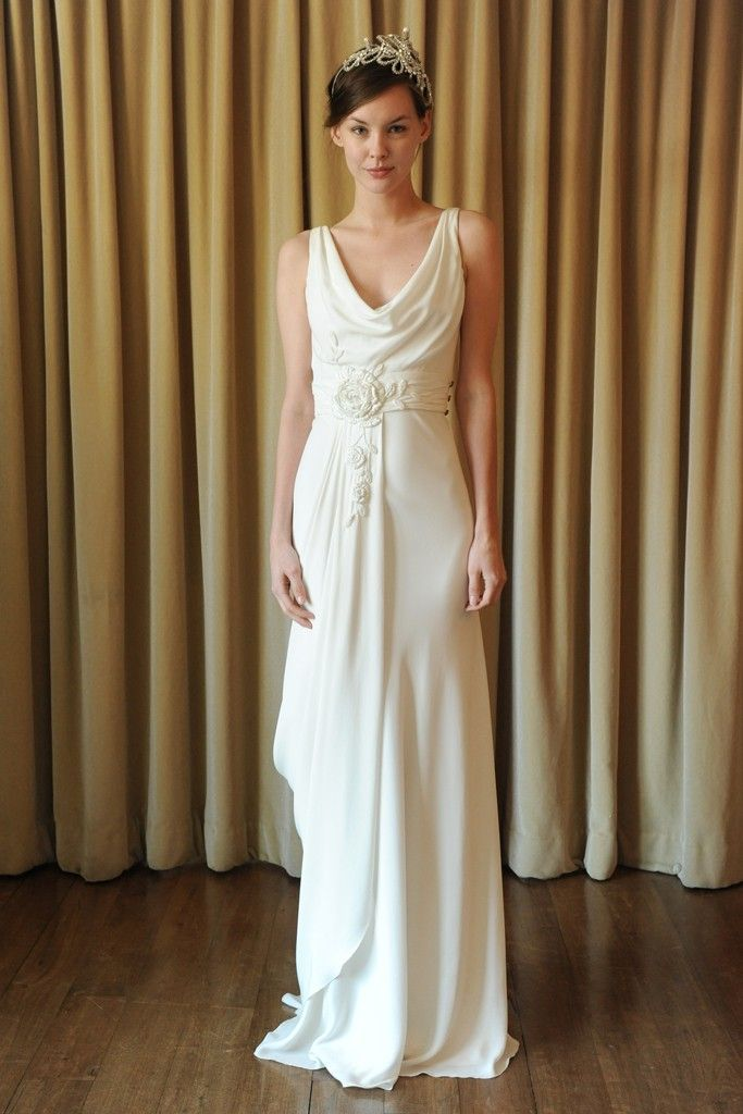 silk draped wedding dress temperley london