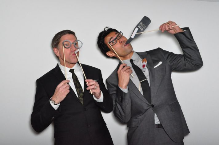 wedding reception entertainment funny mad men photo booth props