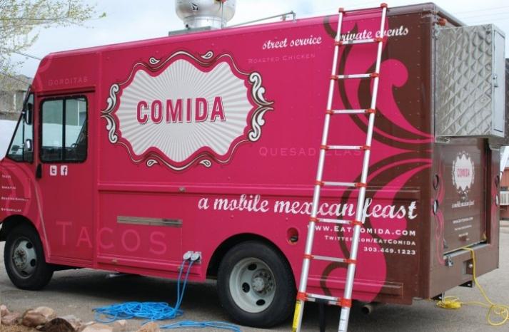 comida food truck wedding reception treats mexican