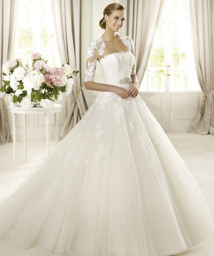 2013 wedding dress Pronovias Glamour collection bridal gowns Domingo