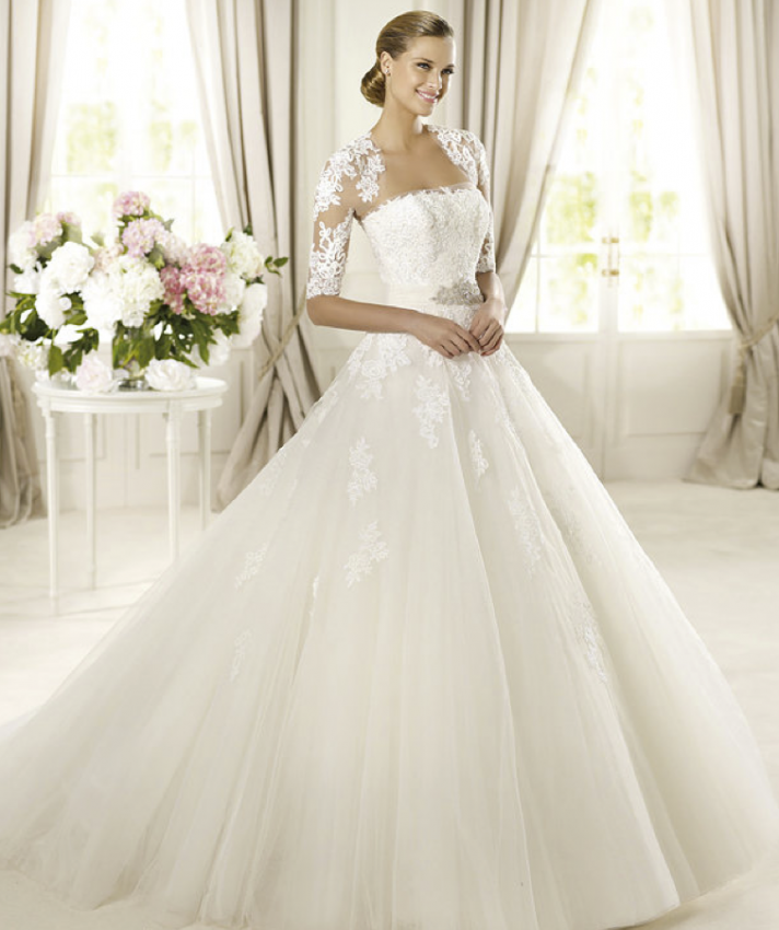 2013 wedding dress Pronovias Glamour collection bridal gowns Domingo