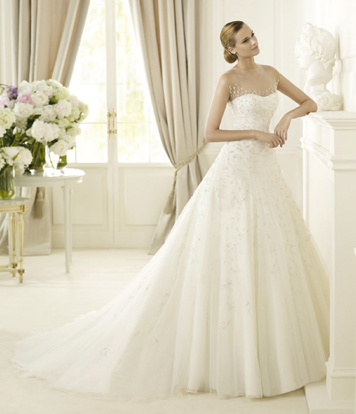 2013 wedding dress Pronovias Glamour collection bridal gowns Disco