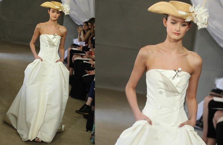 nautical wedding inspiration carolina herrera wedding dress