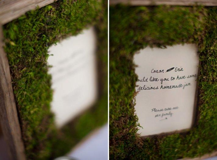 moss framed wedding paper reception decor wedding DIY