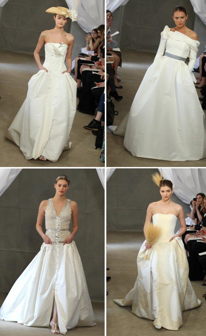 2013 wedding dress trends pockets carolina herrera bridal gowns