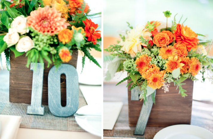 perfect wedding color palettes orange green wedding centerpieces