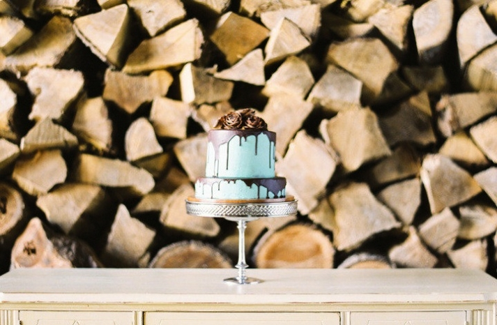 turquoise brown wedding color palette