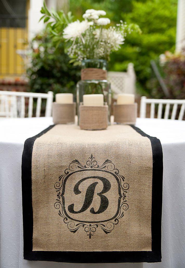 boda Ideas rústico 10 fab arpillera boda Etsy ceremonia de recepción de papelería decoración favorece una