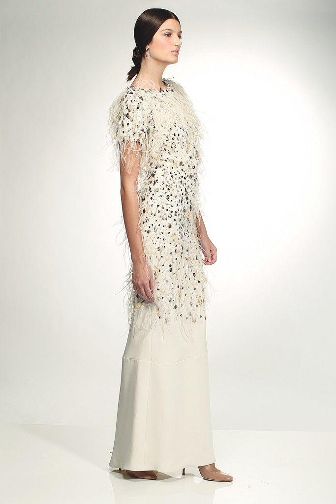 houghton wedding dress beading feathers