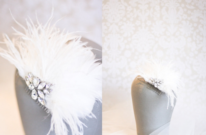 etsy wedding treasures for your handmade wedding glam feathers vintage inspired headpiece