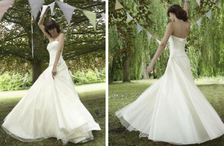 romantic wedding dresses by stephanie allin 2012 bridal gown vintage inspired polka dot net
