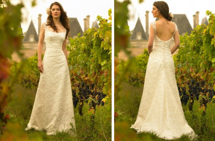 romantic wedding dresses by stephanie allin 2012 bridal gown lace cap sleeves