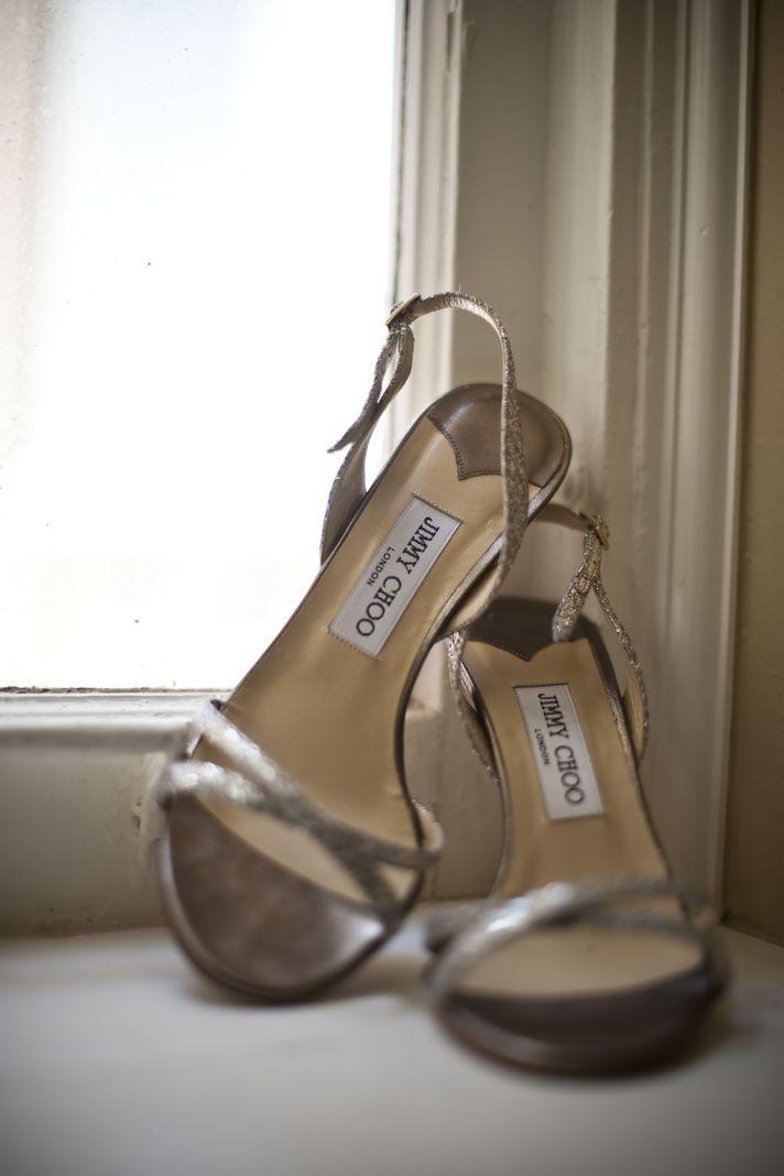 Jimmy Choo wedding shoes gold real wedding