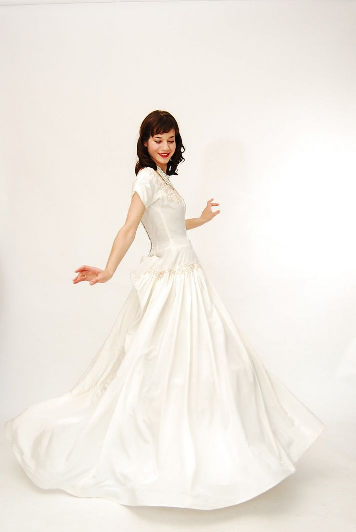 taffeta wedding dress vintage bridal gown on Etsy