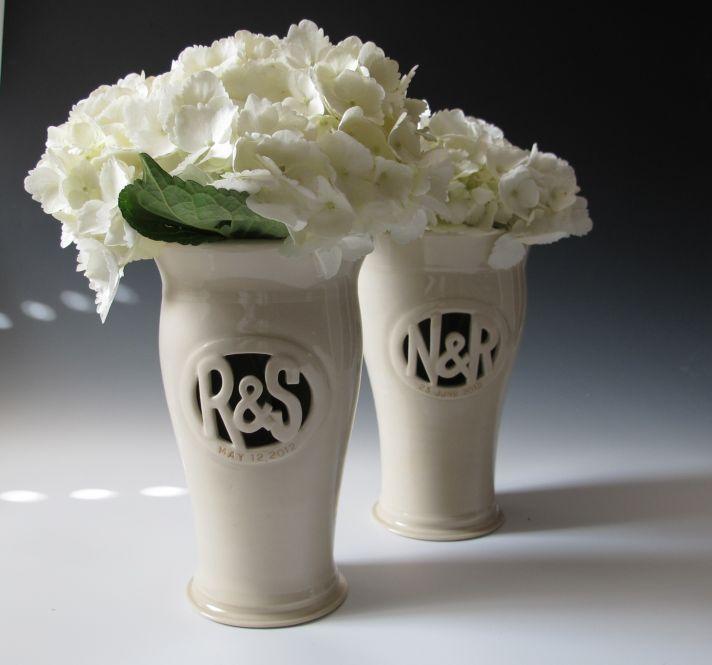 personalized wedding ideas hydrangea wedding centerpiece