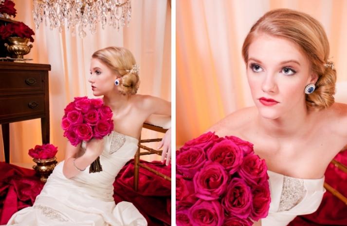 vintage wedding hairstyle low twisted bridal bun 2