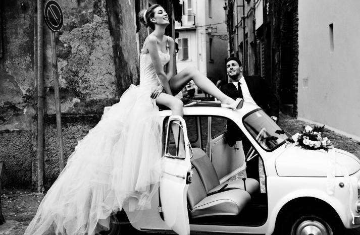 vintage bride wedding hair makeup inspiration black white Italian wedding 1