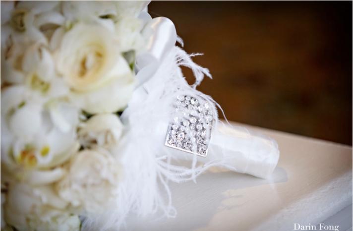 monochromatic ivory white bridal bouquet elegant wedding flowers