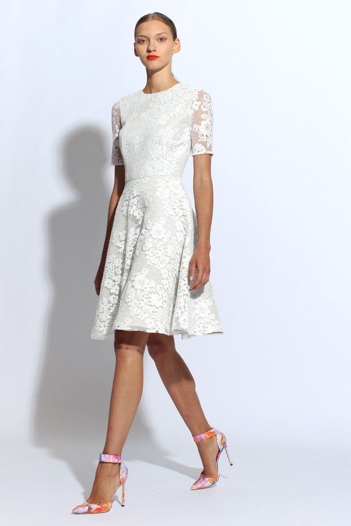 lace LWD for wedding reception by Monique Lhuillier