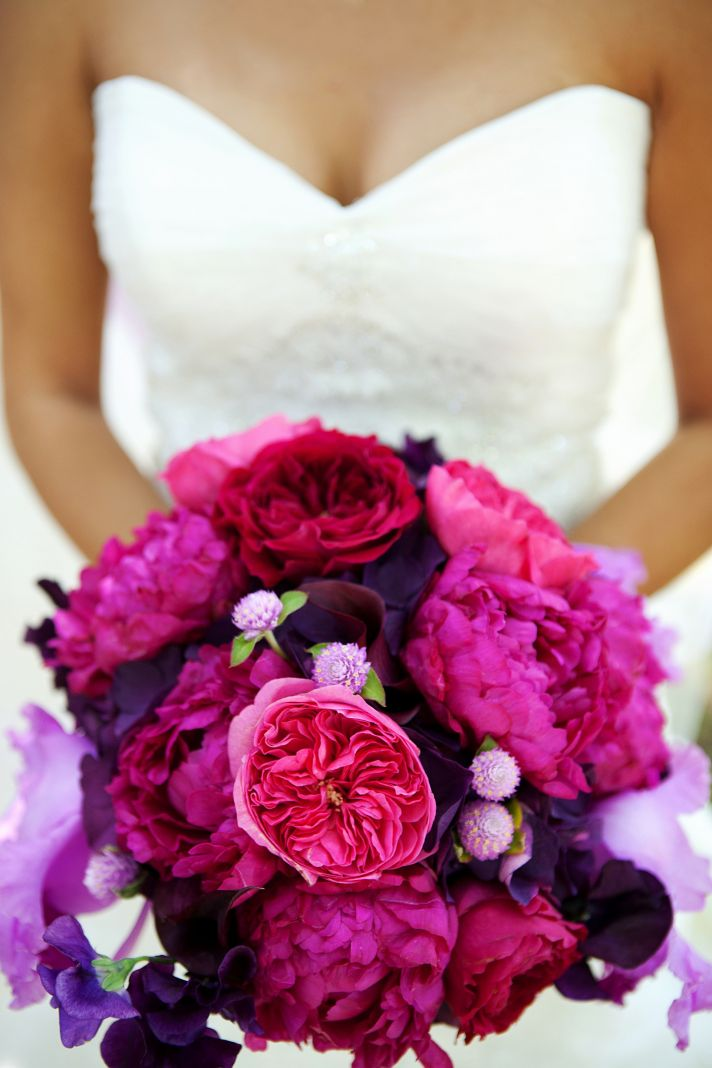 wedding ideas pink and purple wedding theme