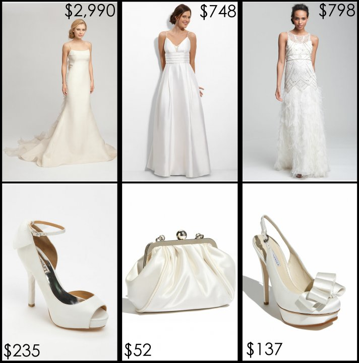 nordstrom wedding suite bridal gowns shoes clutch