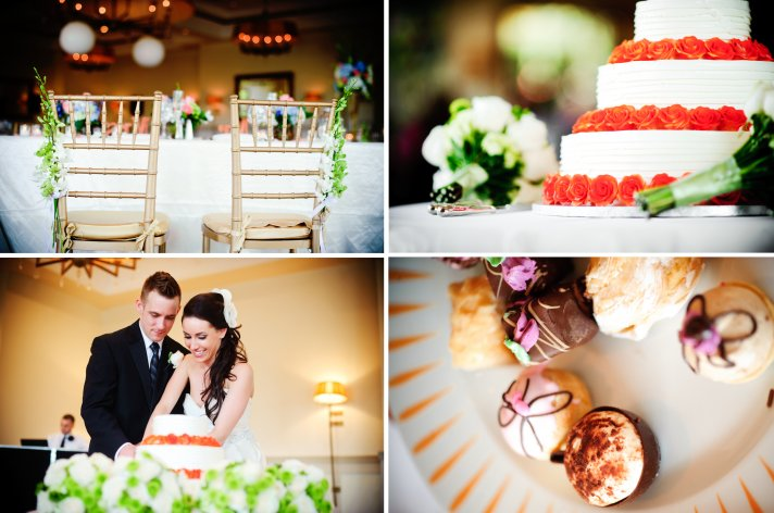 elegant real wedding with simple details 3 tier white wedding cake