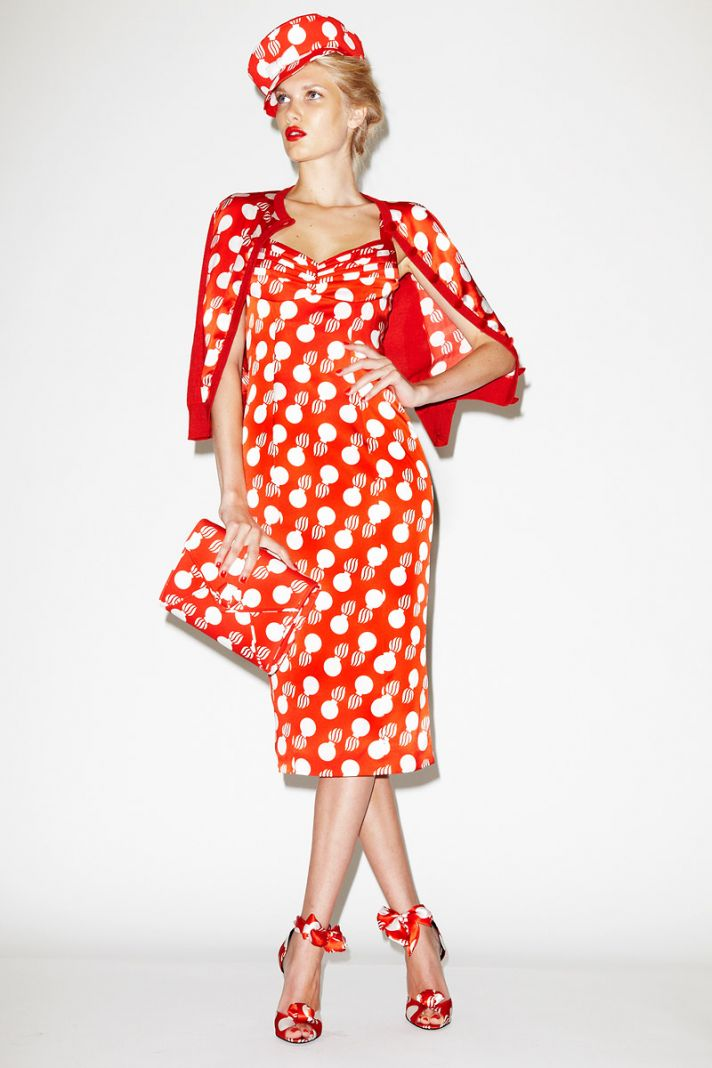 red white polka dots for bridesmaids