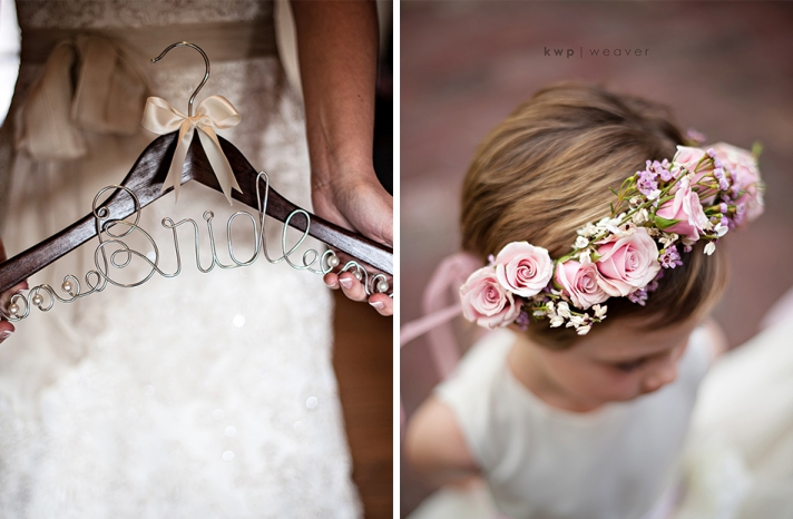 real wedding detail shot reasons to splurge on the wedding photographer bride hanger flower girl