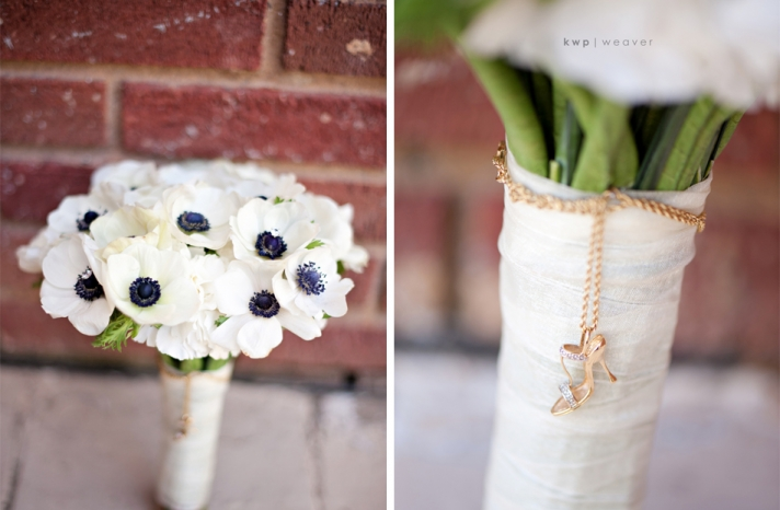 artistic wedding photography detail shots bridal bouquet anemones