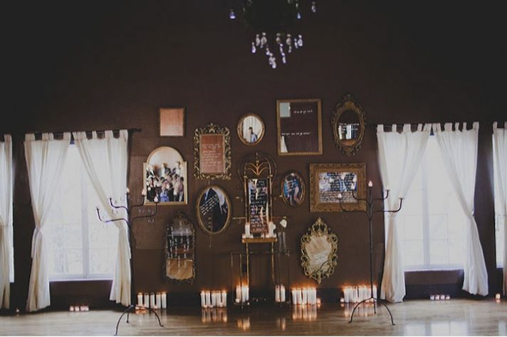 elegant rustic wedding framed mirrors with sweet messages