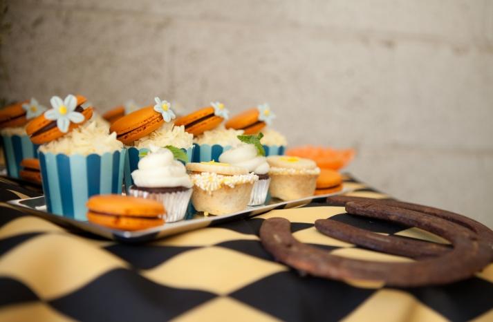 Kentucky Derby inspired wedding theme bridal shower inspiration festive desserts